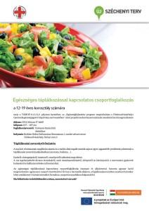 Egészséges táplálkozással kapcsolatos csoportfoglalkozás 2014. február 17.
