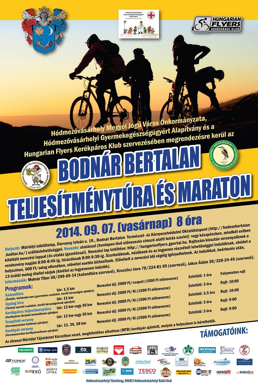 Bodnár Bertalan Teljesítménytúra és  Maraton 2014 plakát